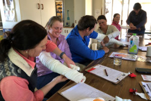 Vicki Revett's first aid courses are providing life-saving skills for farming families in rural Queensland